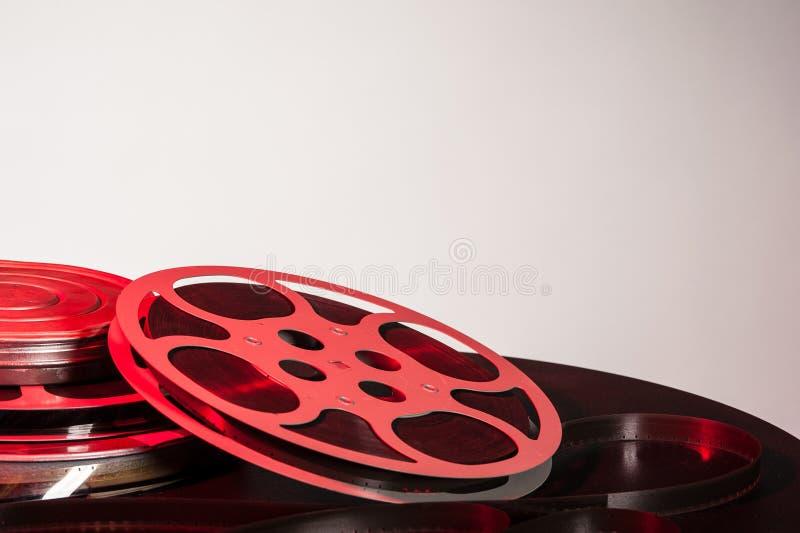 Filma rullen med film filmar - utrymme för text arkivbilder