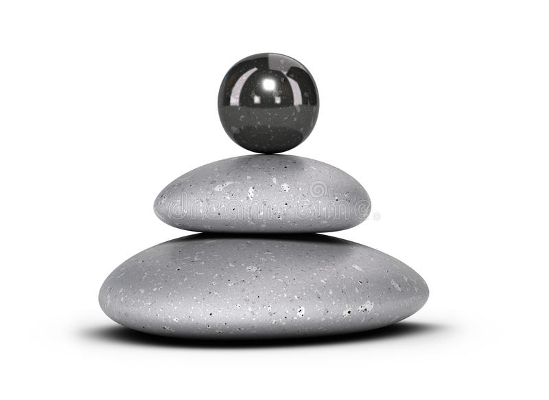 Staplade kiselstenar - stenhög vektor illustrationer