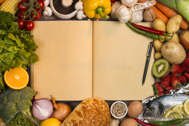 Staple foods recipe book space for text stock photo image of download staple foods recipe book space for text stock photo image of food forumfinder Choice Image
