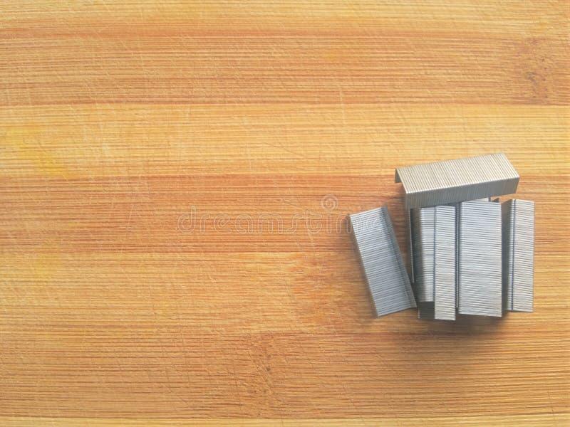 Stapler pin heap stock photo