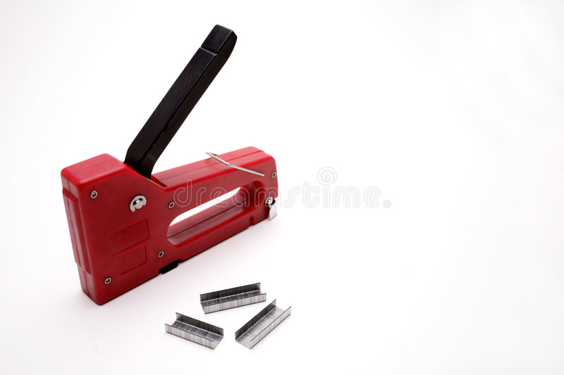 Stapler & staples stock photo