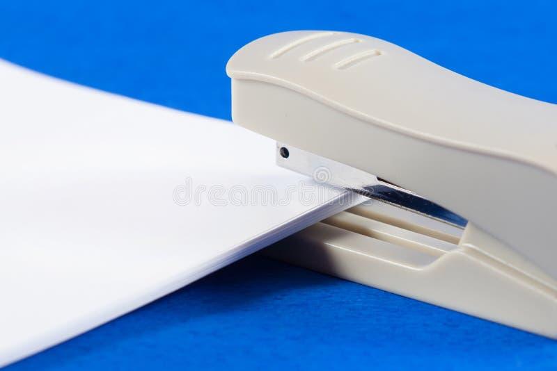 Stapler. Stationery products stapler bond paper stock photo