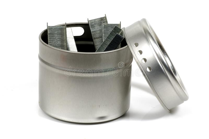 Download Staples stock image. Image of supplies, container, metal - 57691