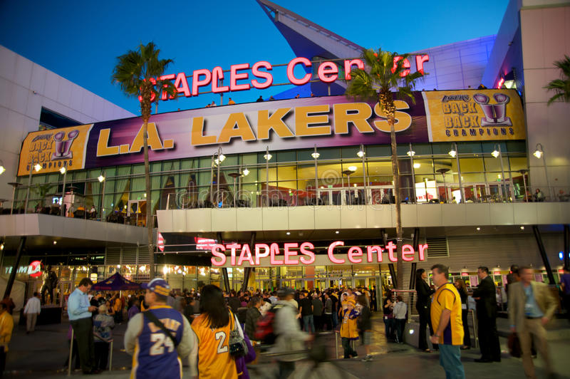 Staples Center in Los Angeles stock photo