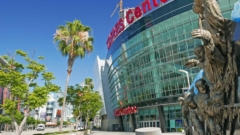 Staples Center Los Angeles julio 2019 foto de archivo