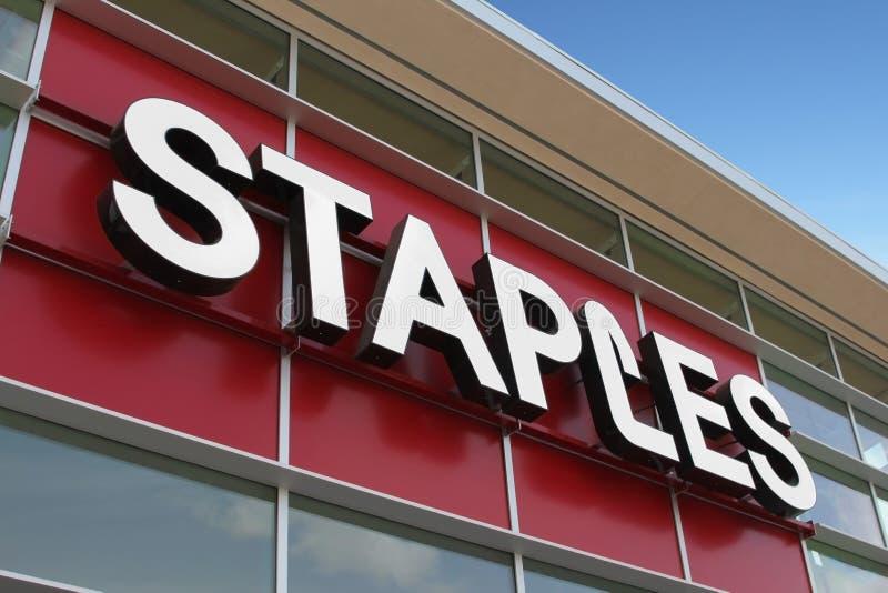 Staples Storefront royalty free stock photos