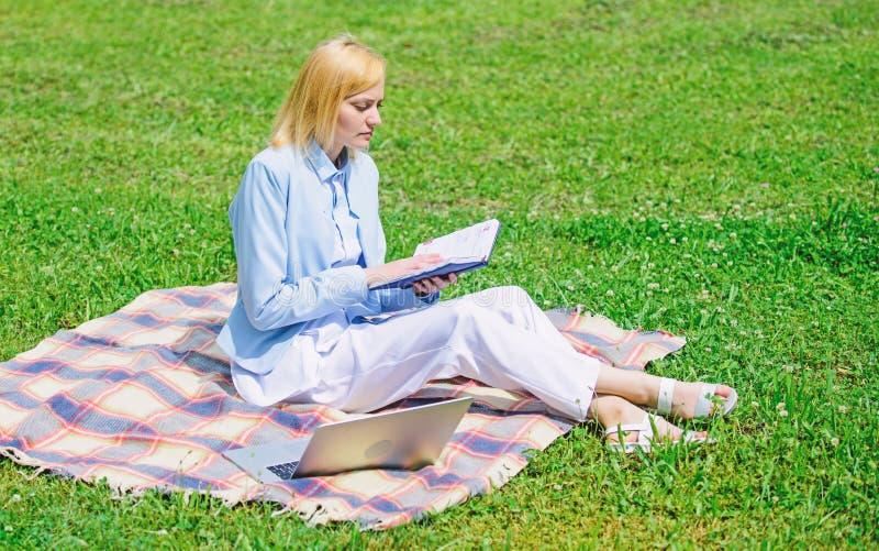 Stappen beginnen zaken freelancing Het bedrijfsdame freelancer werk in openlucht Online bedrijfsidee?nconcept Zaken stock fotografie