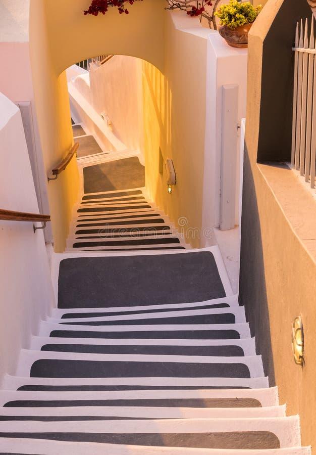 Stappen in Santorini, Griekenland royalty-vrije stock foto