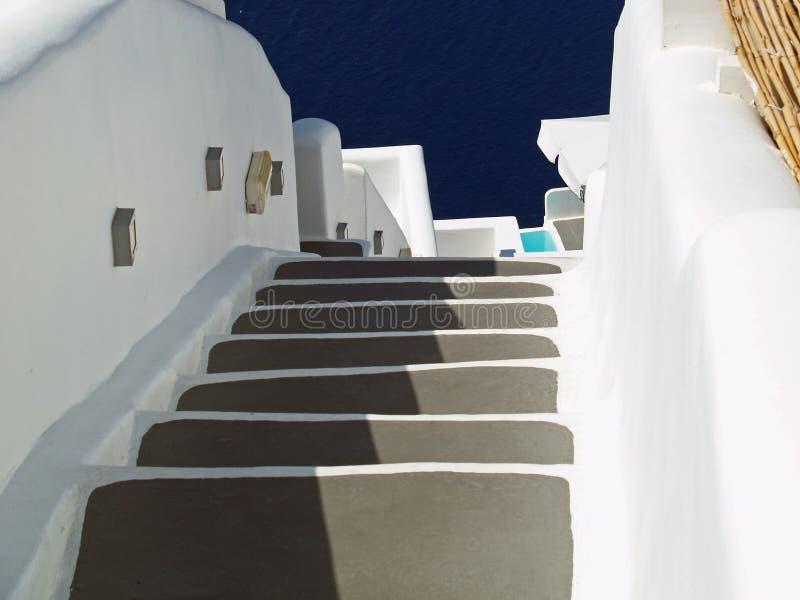 Stappen of trap Santorini Griekenland royalty-vrije stock afbeeldingen