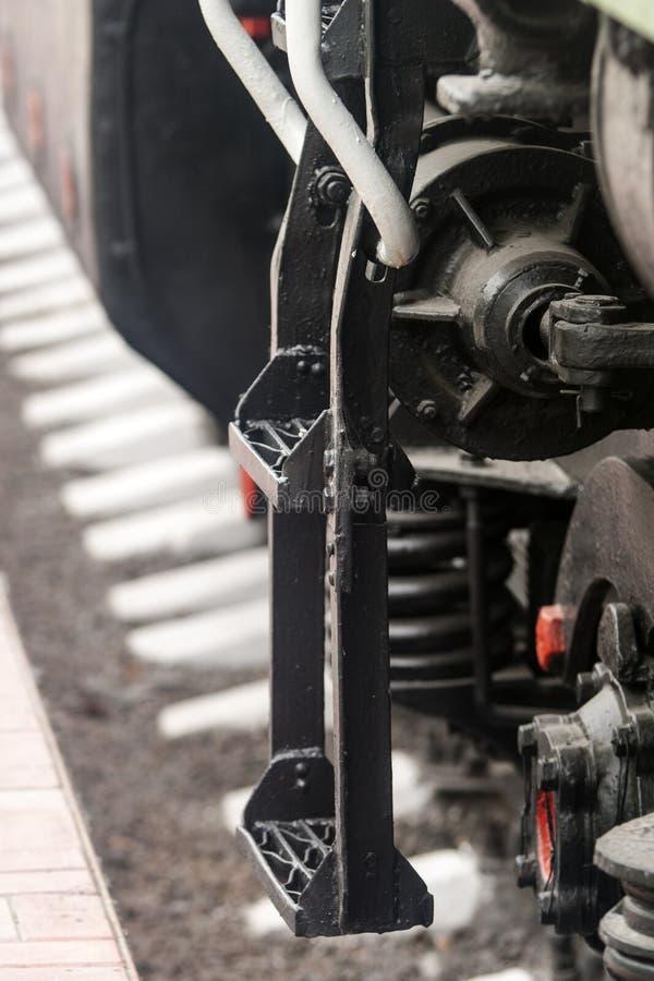 Stappen van de spoorwegauto royalty-vrije stock afbeelding