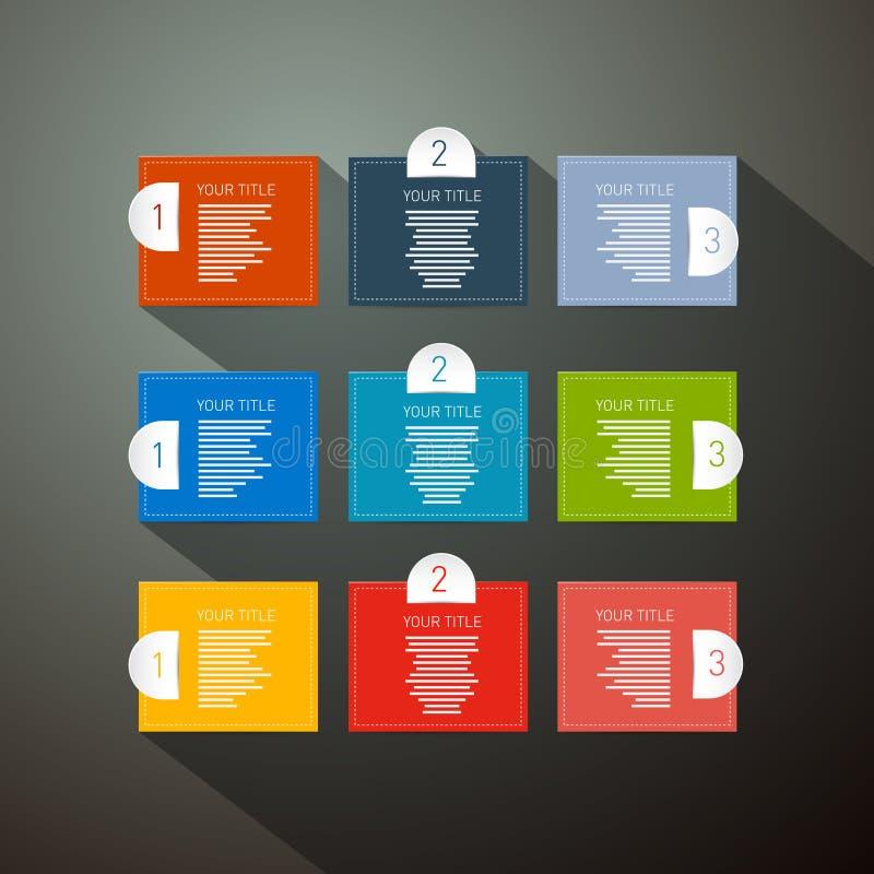Stappen voor Leerprogramma, Infographics royalty-vrije illustratie