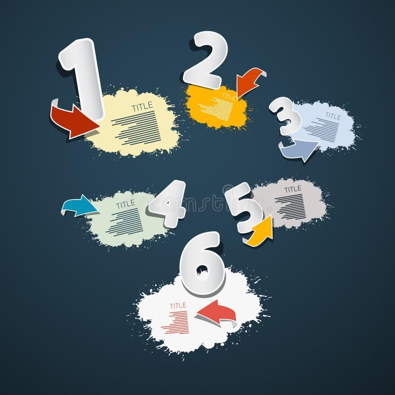 Stappen voor Leerprogramma, Infographics stock illustratie