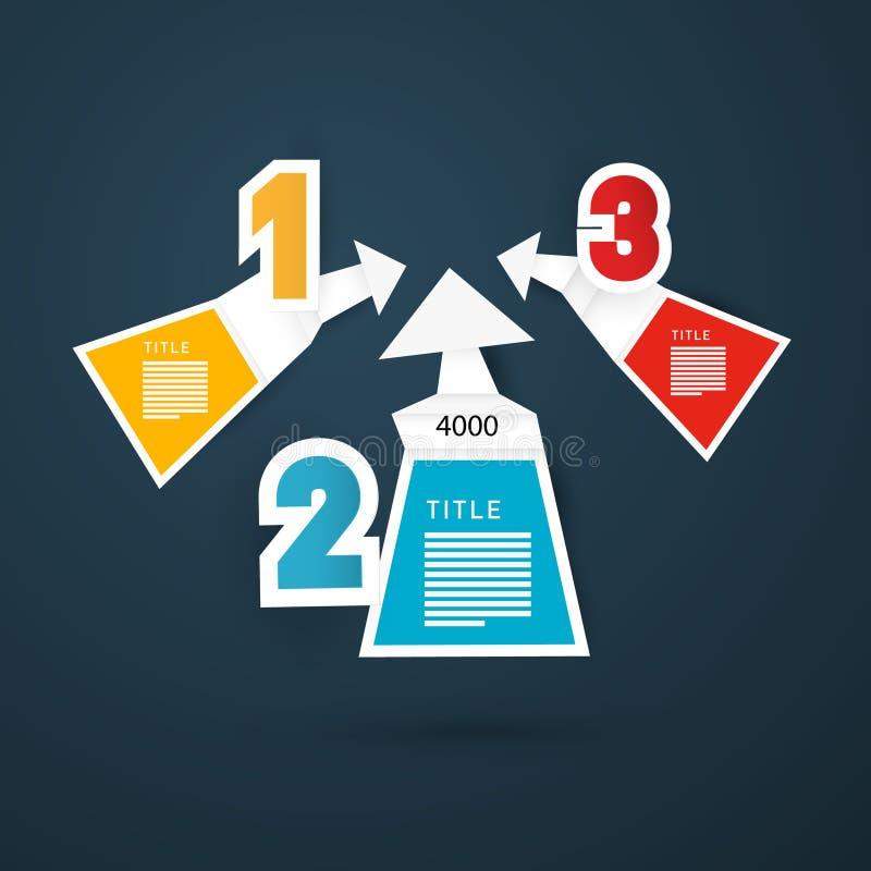 Stappen voor Leerprogramma, Infographics vector illustratie