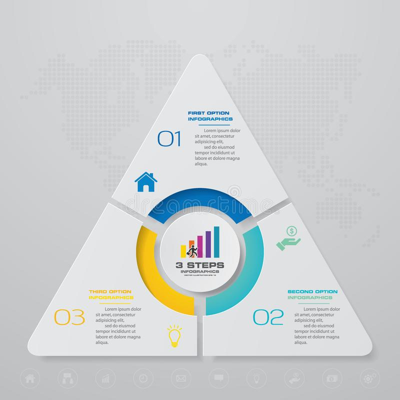 3 stappenproces Element van het Simple&Editable het abstracte ontwerp stock illustratie