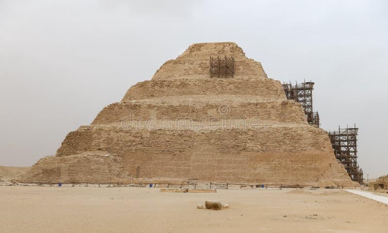 Stappiramide in Saqqara-Necropool, Kaïro, Egypte royalty-vrije stock foto