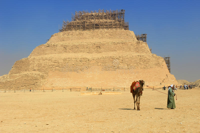 Stappiramide van Saqqara stock foto's