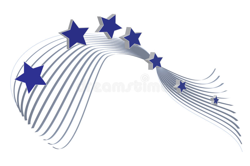 Star. On a background of lines vector illustration