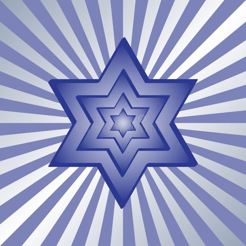 Star. Illustration of blue star of david stock illustration