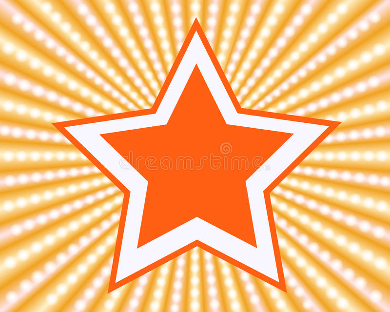 Star. Abstract star background, EPS10 - vector graphics royalty free illustration