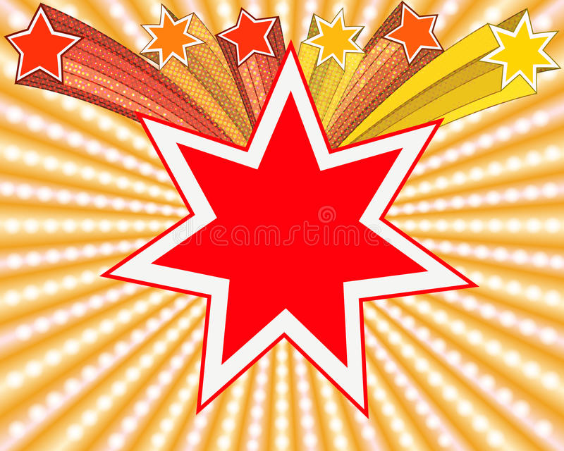 Star. Abstract star background, EPS10 - vector graphics stock illustration