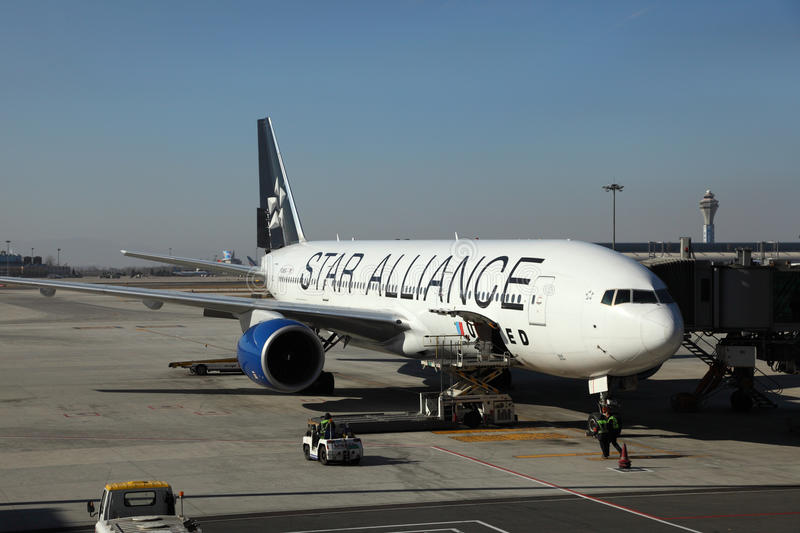 Star Alliance Aircraft stock images