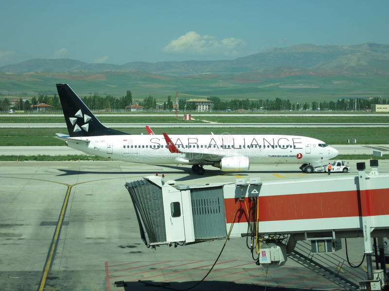 Star Alliance Boeing 737 royalty free stock images