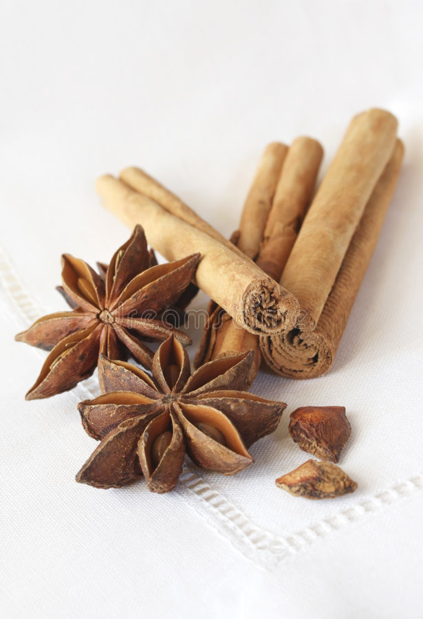 Free Star Anise And Cinnamon Stock Image - 4164091