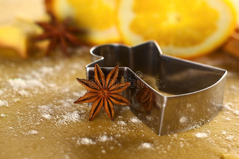 Download Star Anise With Angel Shaped Cookie Cutter Stock Photo - Image: 21954396
