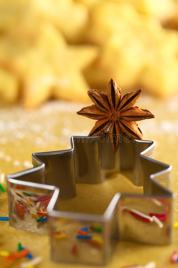 Download Star Anise On Christmas Tree Cookie Cutter Stock Photo - Image: 21955506