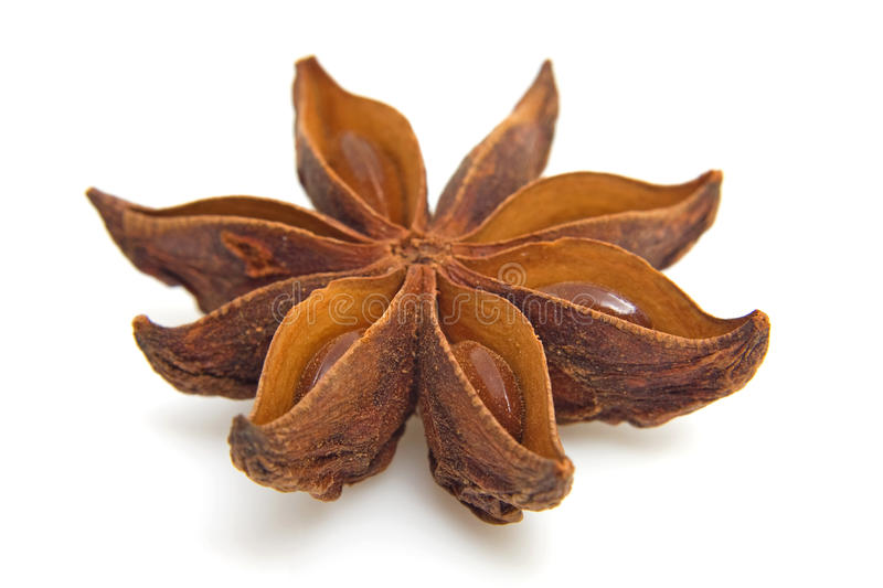Download Star anise in closeup stock image. Image of isolated - 12399773