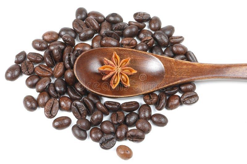 Star Anise Coffee bean royalty free stock photos