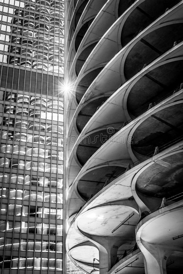 Free Star Architecture - Chicago BW Stock Photos - 119585883