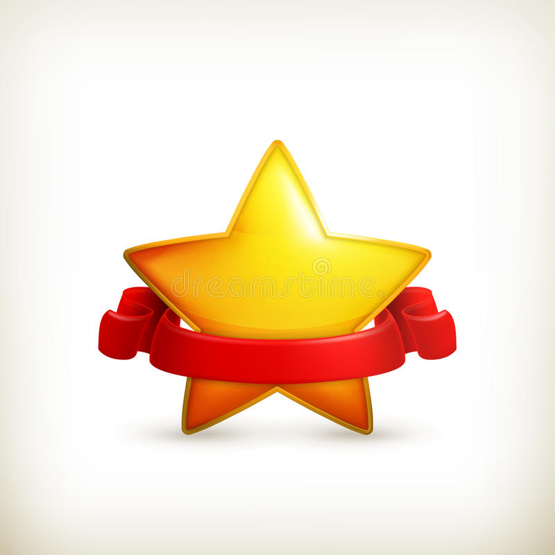 Star, award. Computer illustration on white background royalty free illustration