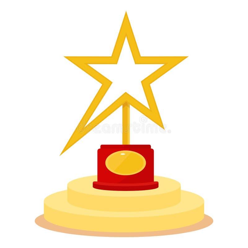 star award on podium stock vector illustration of contest 88787343 rh dreamstime com
