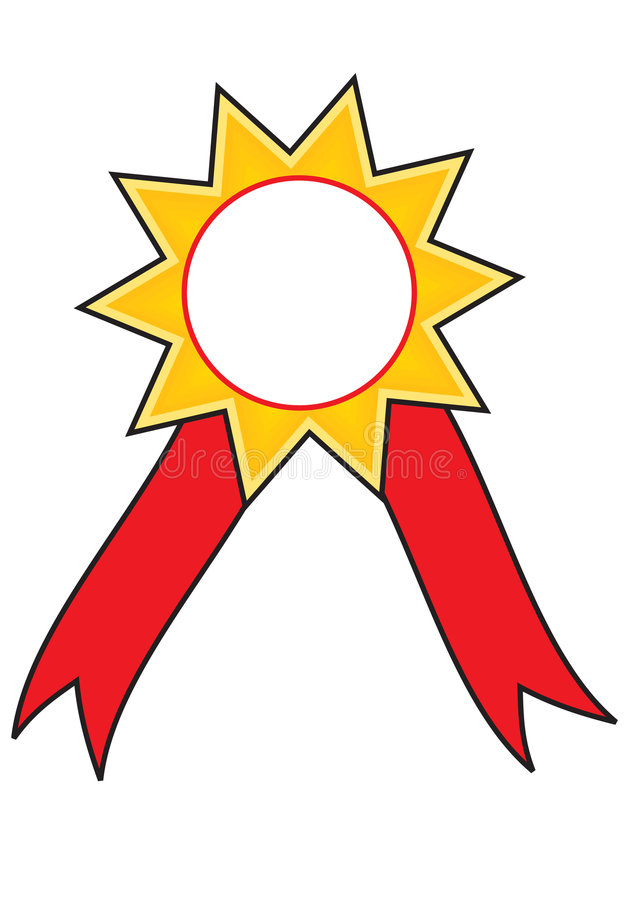 Download Star award ribbon  badge stock illustration. Illustration of earn - 7489664