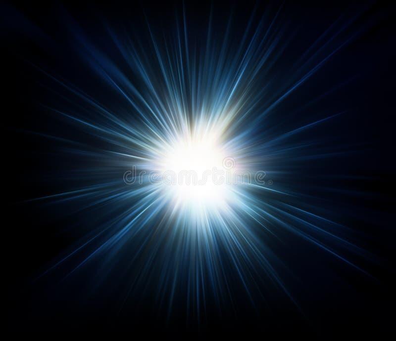 Star Background. Star-burst effect on black background for use as backdrop
