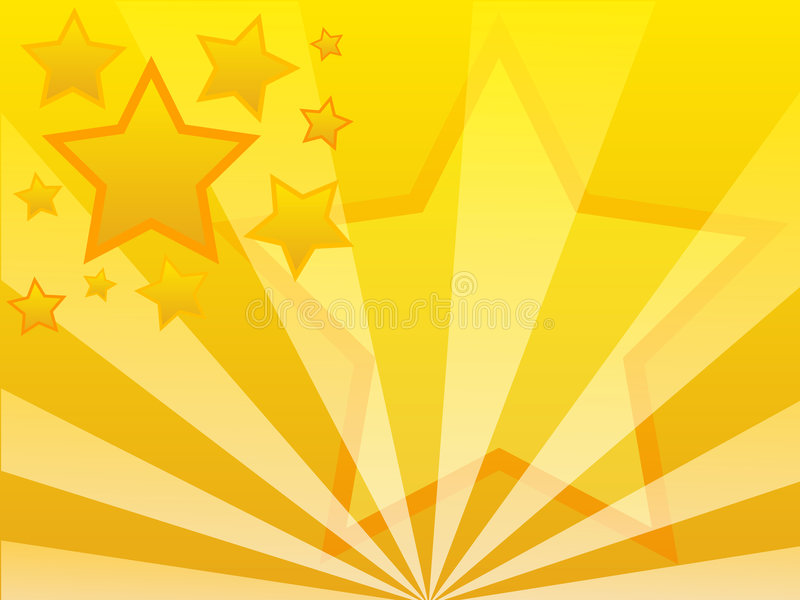 Star background. Abstract vector background - yellow stars vector illustration