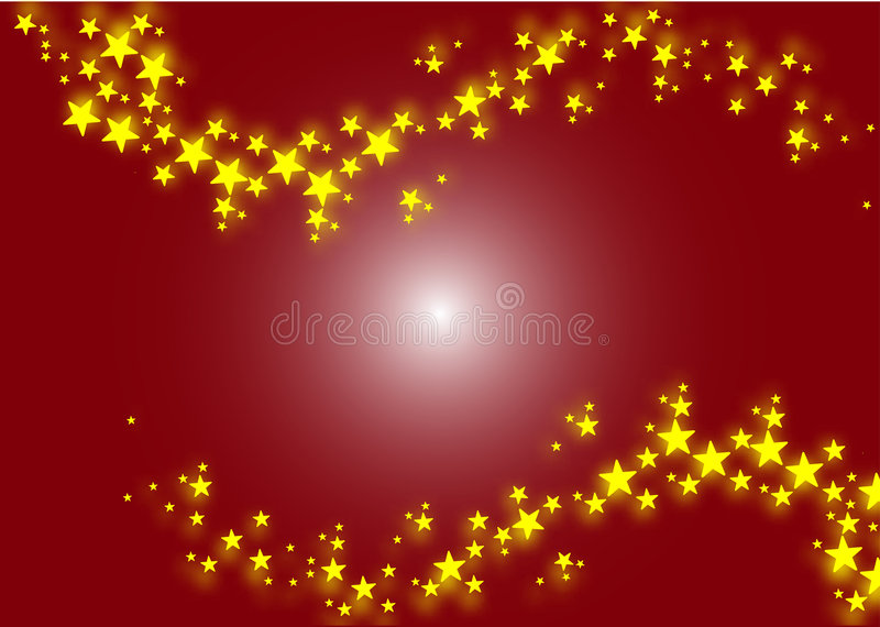 Star background. This illustration represents a Christmas Background Background full of yellow stars vector illustration