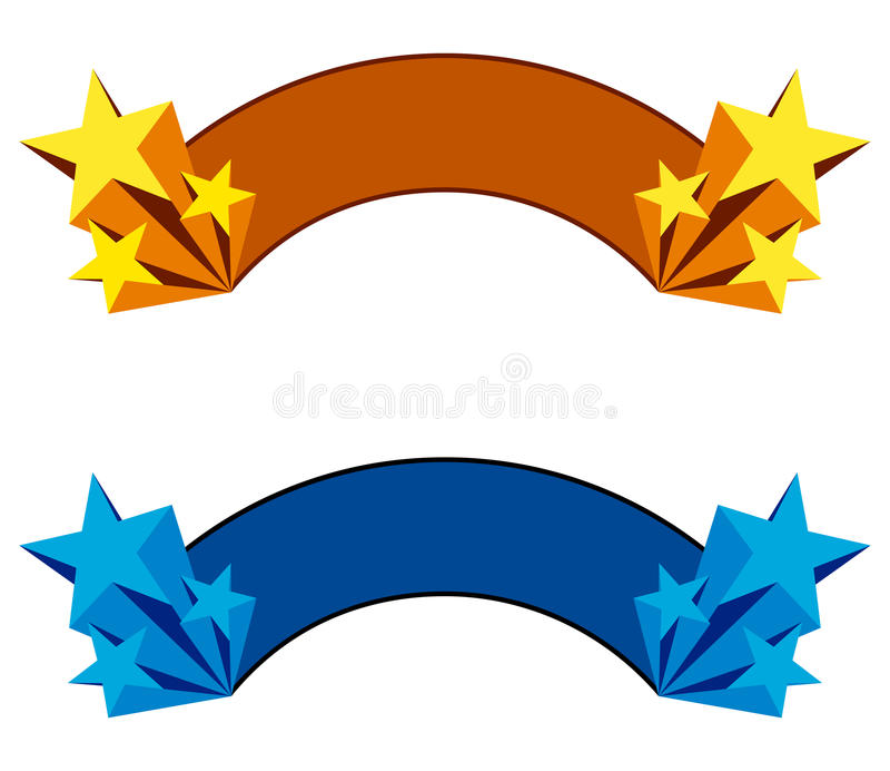 Star banner vector illustration