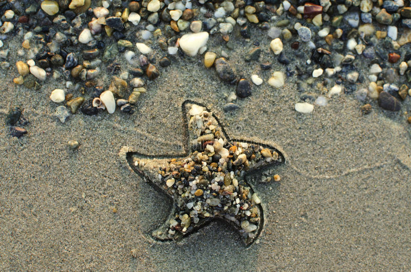 Star on the beach stock images