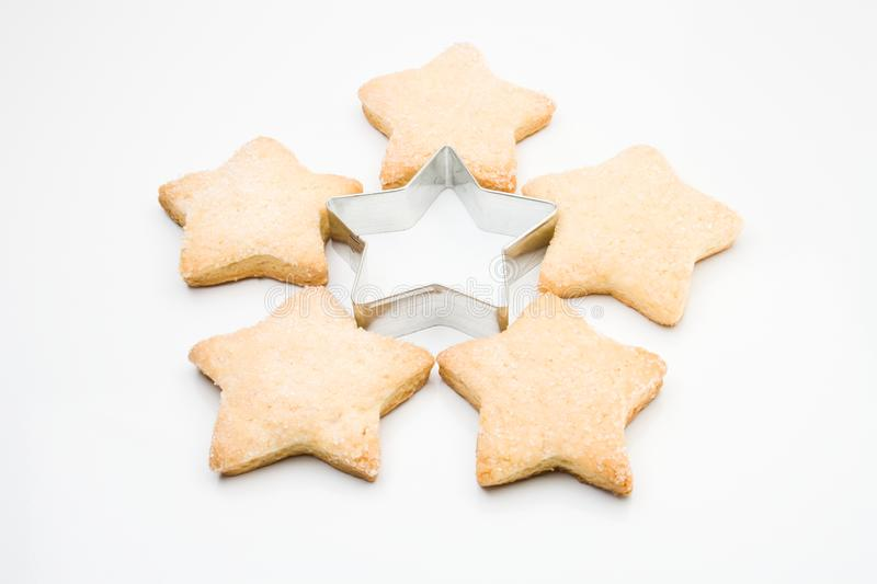 Star biscuits stock image