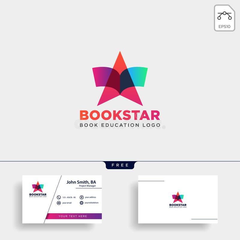 Star book education gradient negative simple logo template vector illustration icon element isolated. Vector file vector illustration