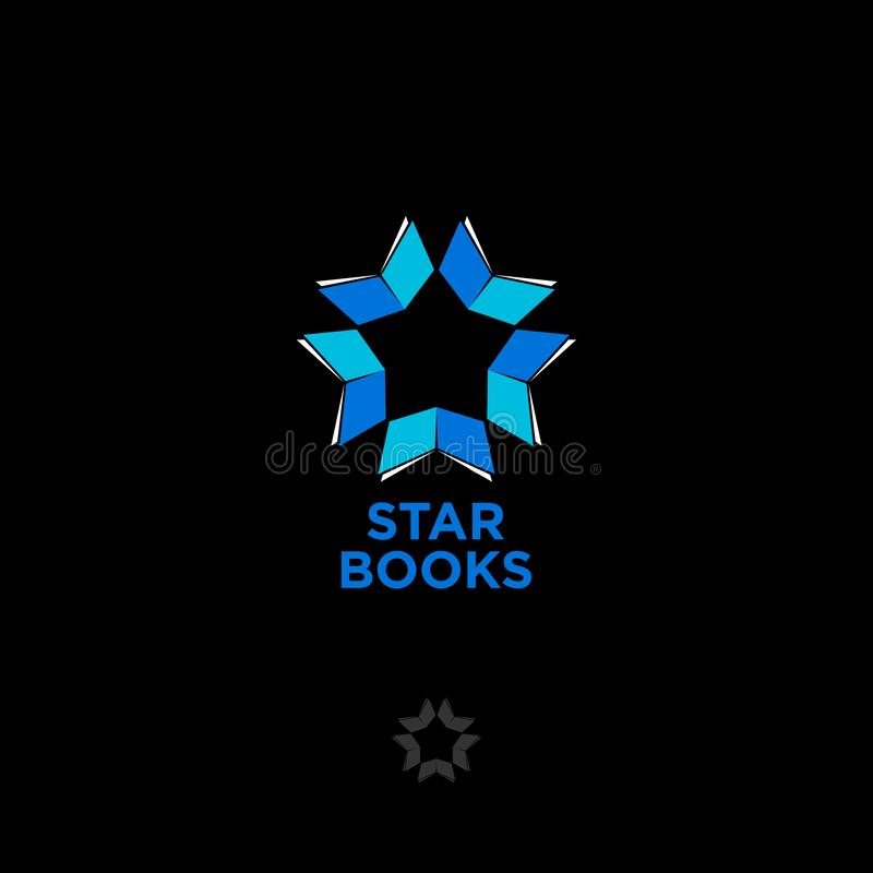 Free Star Books Logo. Digital Library Chat. The Literary Community. The Star Consists Of Books Royalty Free Stock Photo - 126541125