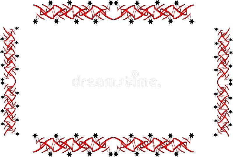 Star border and frame vector illustration