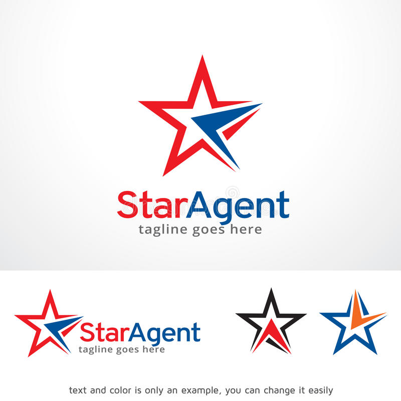 Star Brand Logo Template Design Vector, Emblem, Design Concept, Creative Symbol, Icon. This design suitable for logo, symbol, emblem or icon. Color and text can stock illustration