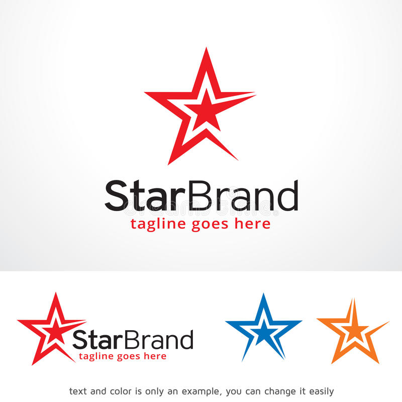 Star Brand Logo Template Design Vector, Emblem, Design Concept, Creative Symbol, Icon. This design suitable for logo, symbol, emblem or icon. Color and text can vector illustration