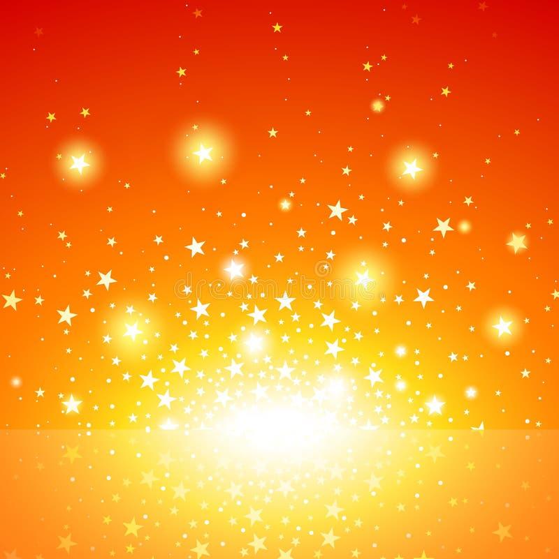 Star Burst. Exploding Star Background, Vector Illustration stock illustration