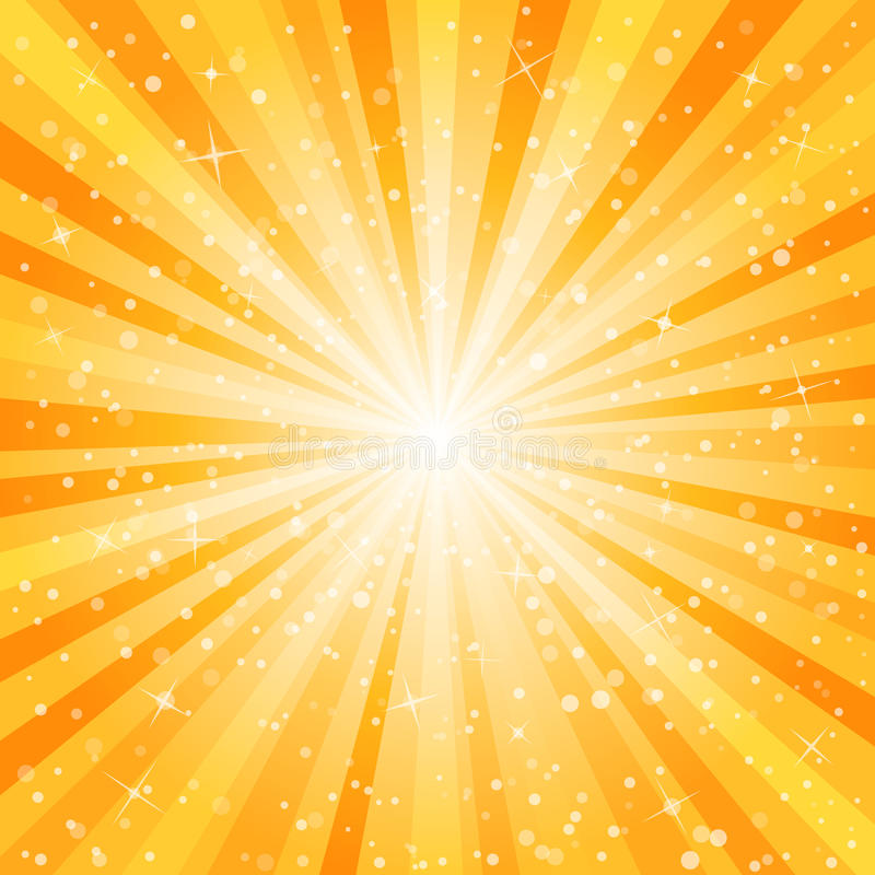 Star burst background. With dust and sparks stock illustration