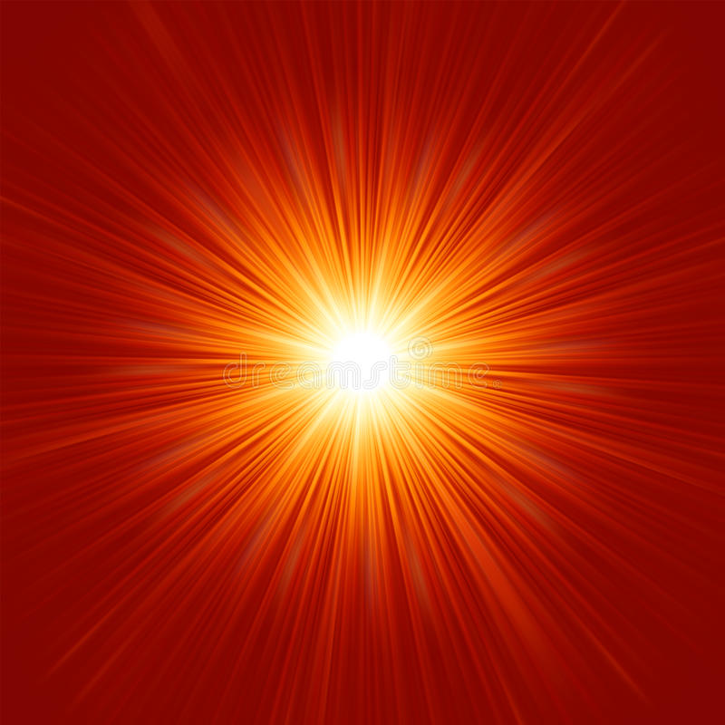 Download Star Burst Red And Yellow Fire. EPS 8 Stock Vector - Illustration of radial, round: 26319684