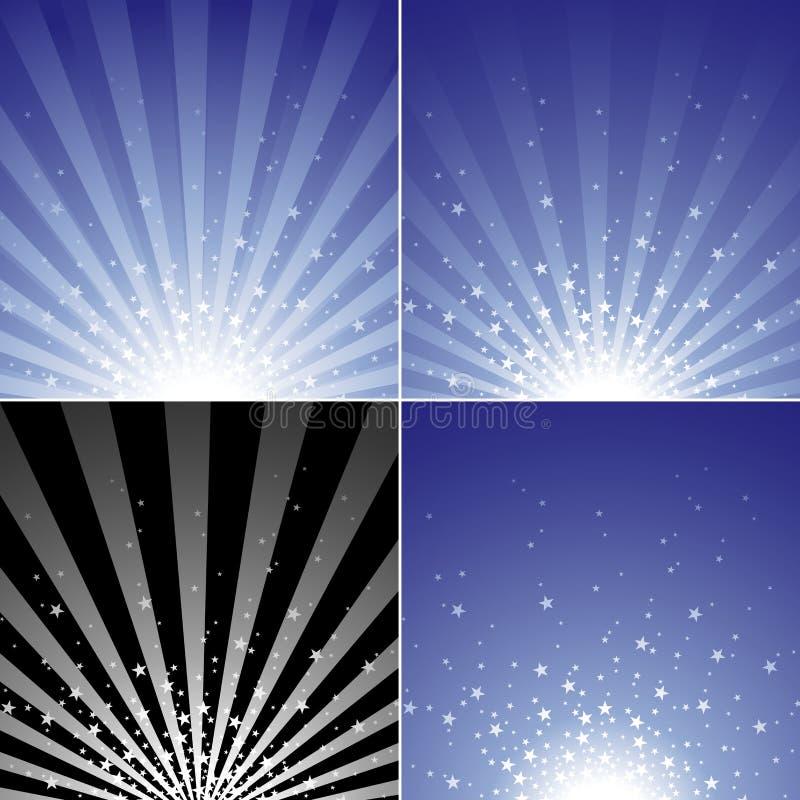 Star Burst Set Royalty Free Stock Images